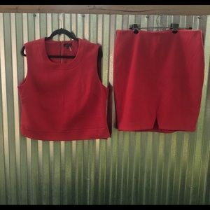 Vince Camuto 2piece (top/skirt), Sz:XL, Clr: Coral